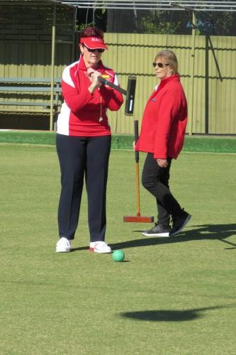 Gayle stalking the ball for a shot IMG 1254